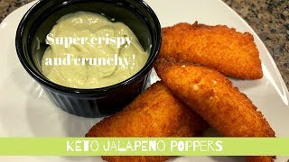 KETO JALAPENO CREAM CHEESE POPPERS | CRISPY | CRUNCHY | LOW CARB