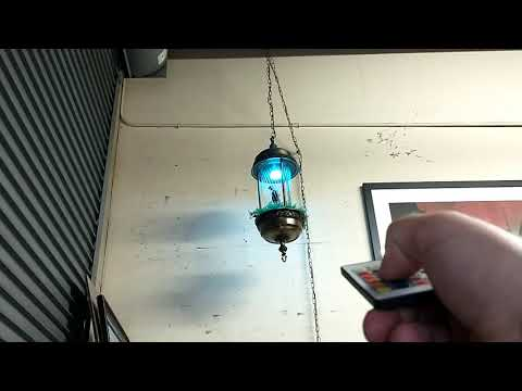 Oil Rain Lamp With Remote Control Lighting