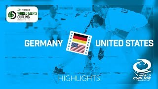 HIGHLIGHTS: Germany v United States - Pioneer Hi-Bred World Men's Curling Championship 2019