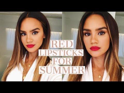 THE BEST RED LIPSTICKS FOR SUMMER! | DACEY CASH - UCENlpfLjMFvJ43Ix877PXHQ