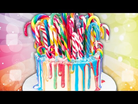 Rainbow Drip Candy Cane Cake  (Christmas Cake) from Cookies Cupcakes and Cardio - UCg-YSRB6TsIq-c5PUZ0F1Jg