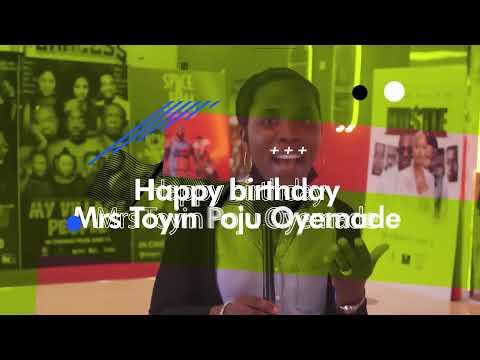 Happy Birthday Mrs Toyin Poju-Oyemade