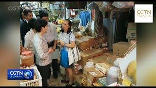 Carrie Lam visite le district de Tin Shui Wai sur les projets publics