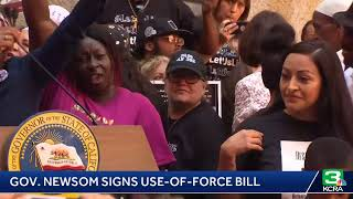 Gov. Newsom is signing AB 392, a bill that modernizes standards for use of deadly force by officers.