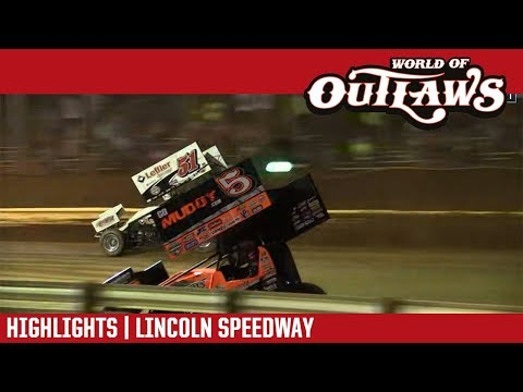World of Outlaws Craftsman Sprint Cars Lincoln Speedway July 19, 2018 | HIGHLIGHTS - dirt track racing video image