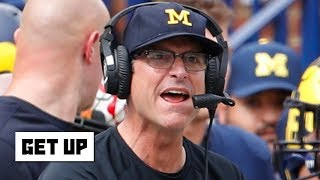 Jim Harbaugh will be on the hot seat if Michigan loses to Ohio State - Marcus Spears   Get Up