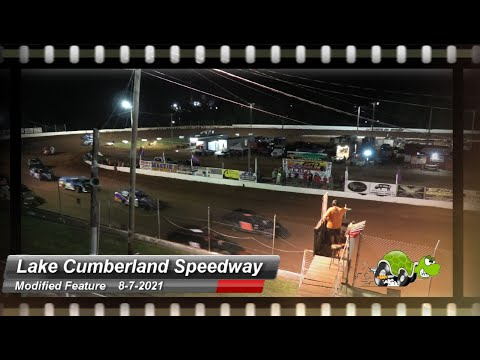 Lake Cumberland Speedway - Modified Feature - 8/7/2021 - dirt track racing video image