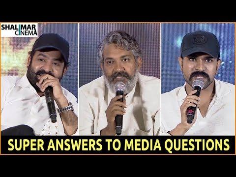 RRR Movie Team Superb Answers To Media Questions || RRR Movie Press Meet || Jr NTR,Ramcharan