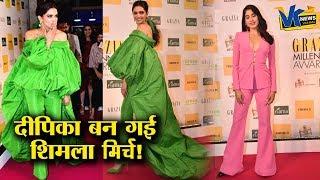 हरी-भरी दीपिका ने सबको बावला बना दिया है!Bollywood celebs attend Grazia Millennial Award 2019