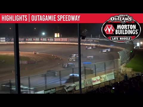 World of Outlaws Morton Building Late Models at Outagamie Speedway August 3, 2021 | HIGHLIGHTS - dirt track racing video image