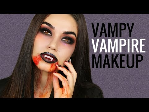Vampire Halloween Makeup Tutorial | Easy DIY Halloween Costume 2017 | Eman - UCaZZh0mI6NoGTlmeI6dbP7Q