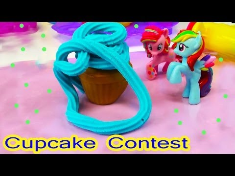 MLP Pinkie Pie Rainbow Dash Cupcake Contest My Little Pony Playdoh Sweet Shoppe Tower Food - UCelMeixAOTs2OQAAi9wU8-g