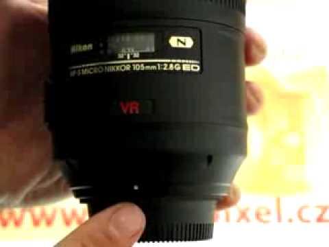 Videorecenze Nikon 105 mm f/2,8 G NIKKOR AF-S Micro IF-ED VR