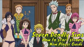 Seven Deadly Sins Grand Cross: How to start Strong/New Player Guide/Gearing&Upgrading Characters