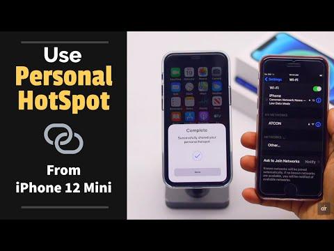 Use Personal HotSpot on iPhone 12 Mini