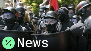 Crowds Gather at Portland Protests from Far-Right Rally, Far-Left Antifa Forces