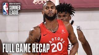 RAPTORS vs PACERS | Dewan Hernandez Propels Toronto | MGM Resorts NBA Summer League