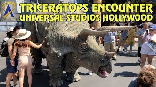 Triceratops Encounter in Jurassic World at Universal Studios Hollywood