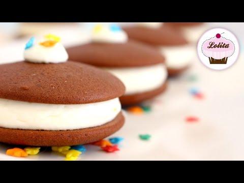Receta de whoppie pie de chocolate y crema de violetas | Whoopies pies fáciles