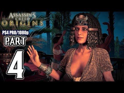 Assassins Creed ORIGINS Walkthrough PART 4 (PS4 Pro) No Commentary @ 1080p HD ✔ - default