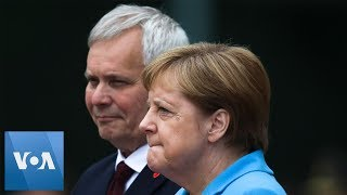 Merkel Appears Unsteady as She Welcomes Finnish PM