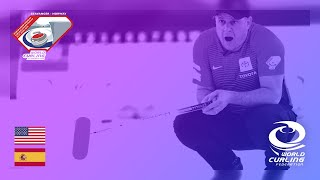 United States v Spain - round robin - World Mixed Doubles Curling Championship 2019
