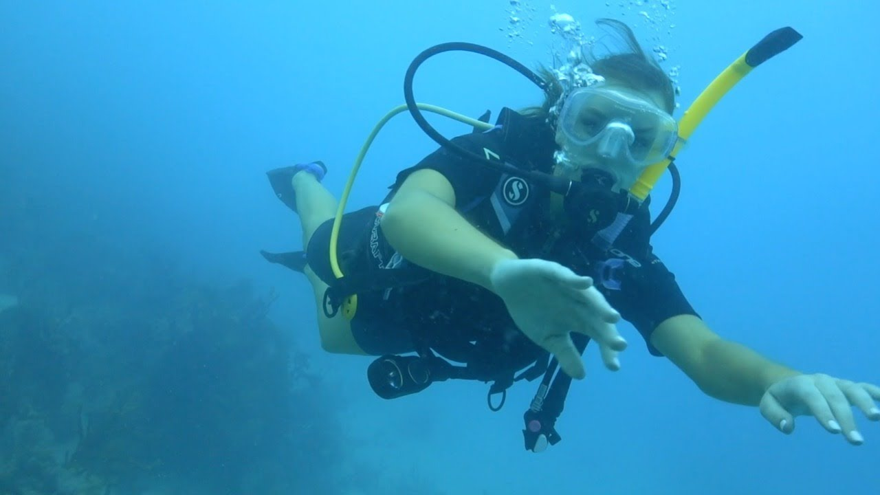 Olivia Brower Goes Scuba Diving in the British Virgin Islands