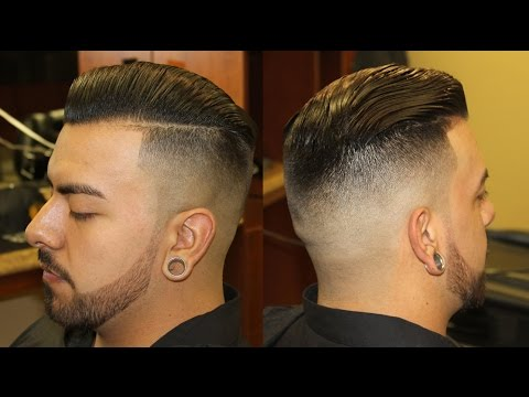 Faded Sides With Long Top With Line