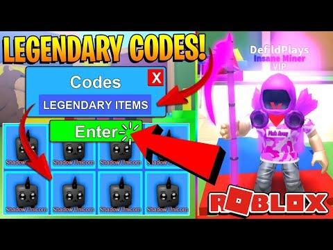 Youtube Legendary Roblox Mining Simulator Codes Insane - dominus roblox code
