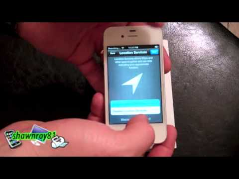 iphone 4s Rogers Unboxing, Activation and and short siri demo - shawnroy81