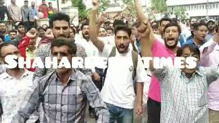 Video Smc  employees held protest at karanagar  municipality head office against for not paying wage