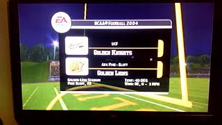 NCAA Football 2004 Is UCF Golden Knights And Arkansas Pine Bluff Golden Lions Intro