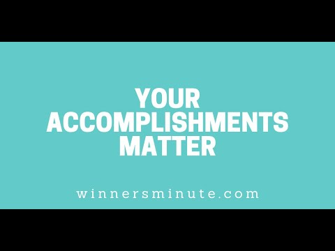 Your Accomplishments Matter // The Winner's Minute With Mac Hammond