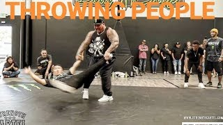 BIG BOY THROWS SMALLEST BREAK DANCER IN THE WORLD