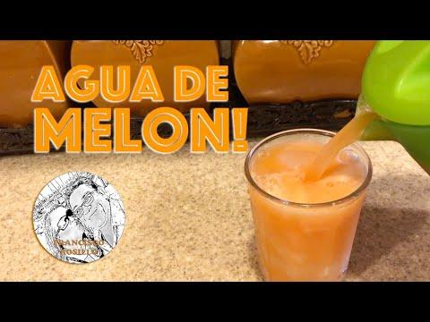 Agua de Melon! Receta de Agua fresca de Melon - Como Hacer Agua de Melon - Cantaloupe Recipe