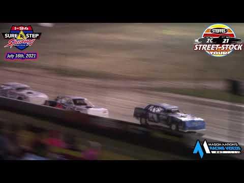 I-94 Sure Step Speedway Steffes WISSOTA Street Stock Tour A-Main (7/16/21) - dirt track racing video image
