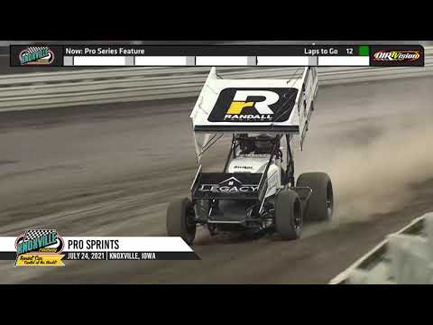 Knoxville Raceway - Pace Pro Sprints Highlights - July 24, 2021 - dirt track racing video image