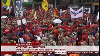 Maduro supporters rally against UN report (Venezuela) - BBC News - 13th July 2019