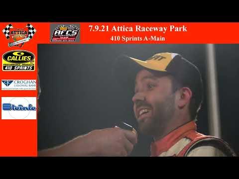 7.9.21 Attica Raceway Park 410 Sprints A-Main - dirt track racing video image