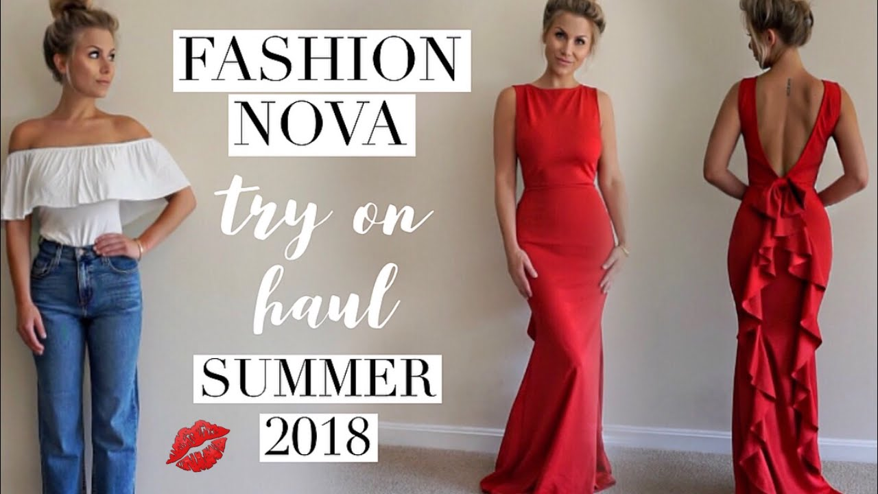 58301c1695f Fashion Nova summer outfits try on Haul june 2018