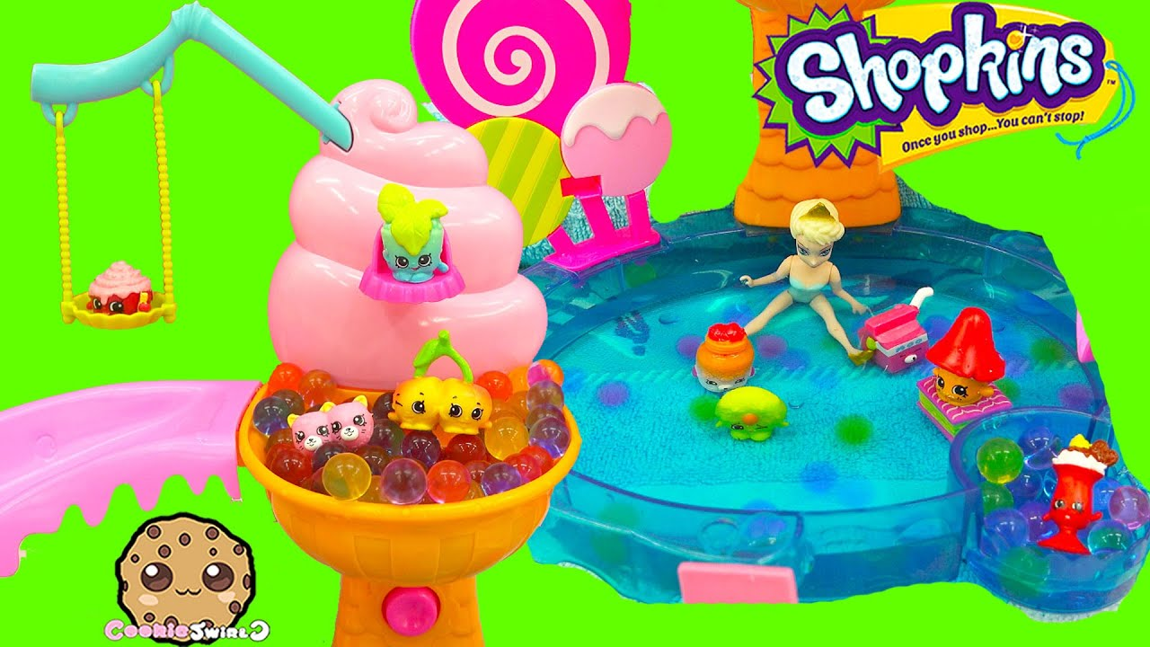 Shopkins Season 4 12 Pack Unboxing With Petkins At Queen Elsa Orbeez Pool Party