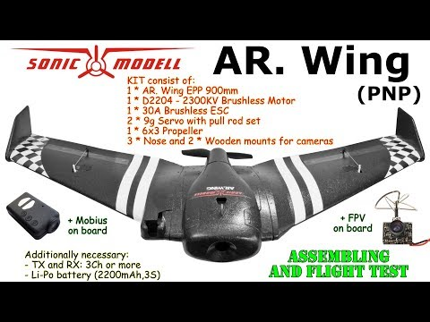 SonicModell AR. Wing, 900mm Wingspan, EPP, FPV (PNP) Assembling and flight test - UC8Pp5wqa4mPIdtAYkGH2Pzw