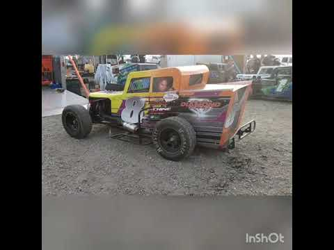 Strolling the pit at Marysville during the 2020 Dwarf Car Nationals. - dirt track racing video image