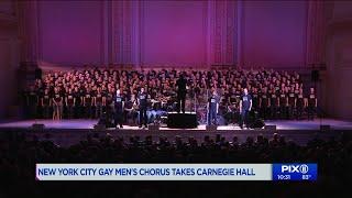 NYC Gay Men`s Chorus sings at Carnegie Hall
