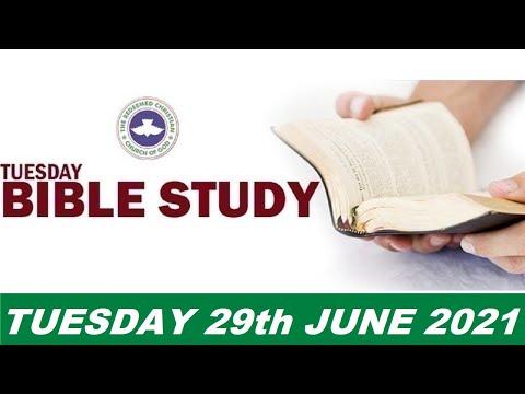 RCCG JUNE 29th 2021 BIBLE STUDY