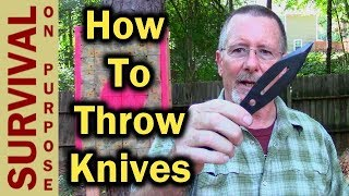 How To Throw Knives For Beginners - Knife Throwing Basics