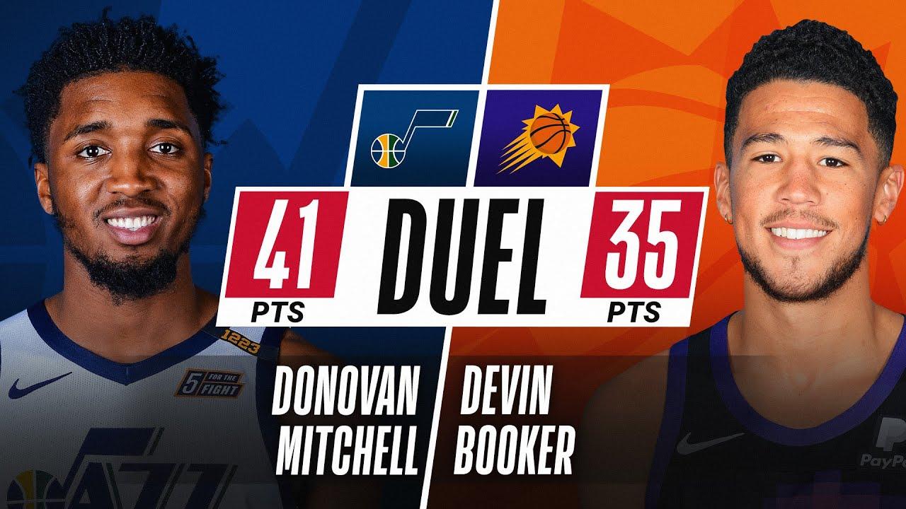 Donovan Mitchell 🕷 & Devin Booker ☀ DUEL in PHOENIX! 🔥