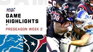 Lions vs. Texans Preseason Week 2 Highlights | NFL 2019