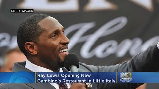 Ray Lewis Opening Lew Gambino's Restaurant In Little Italy