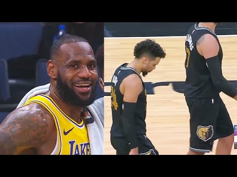LeBron James Disrespects Small Grizzlies After Clutch Shot! Lakers vs Grizzlies